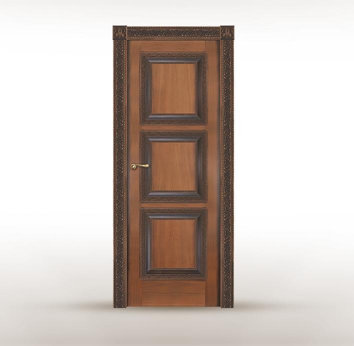 """Классическая дубовая дверь с патиной под старину """"Ницца"""""""